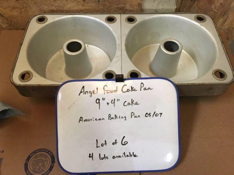 Lot Of 6 American Pan Company Angel Food Cake Pan Double