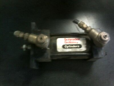 Schrader Bellows Air Pneumatic Cylinder 3 Stroke 58 Ram Swivel Elbow 38 Npt