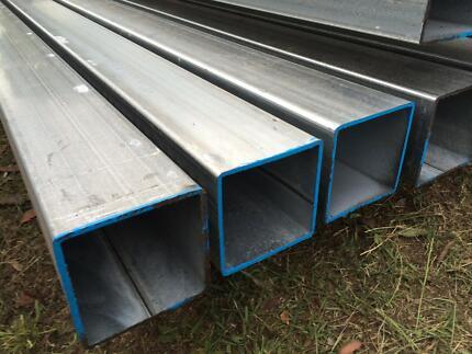 RHS Steel Posts SHS Galvanised 75 x 75 Square - 3mm