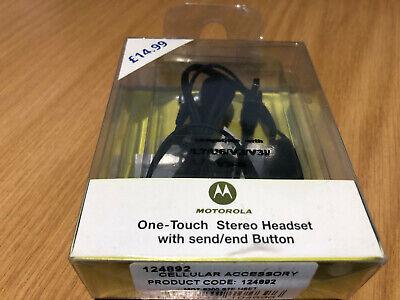 Motorola Stereo Headset With Mic & end button Mini USB - Black