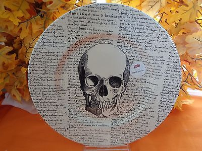 ROYAL STAFFORD SKULL SCRIPT HALLOWEEN DINNER PLATE NEW MADE IN ENGLAND ()