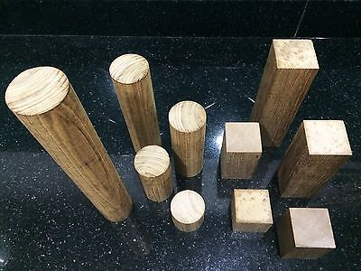 Kararam Handcrafted WOOD CUBE,Cuboid,Tube,Home,Garden,TEAK,50-300-mm,2-12-inch L
