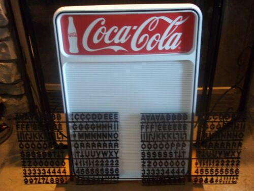 ;Coca-Cola Menu Board Sign w/2 sets of letters & numbers!.