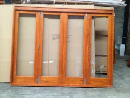 Solid Cedar French Bifold Stacker Door Vineyard Hawkesbury Area Preview