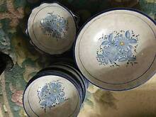 Set of painted ceramic bowls West Ryde Ryde Area Preview