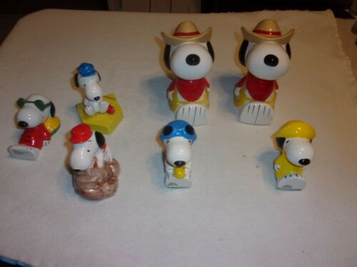 7 Vintage Snoopy Paper Weights