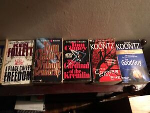 30+ various best selling books, ask 1.00/ech OBO