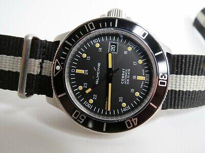 Glycine Combat Sub Black Swiss Made Automatic Watch 42mm 3908