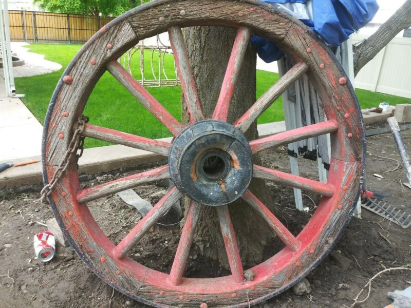 Two Old Wagon Wheels