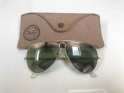 Vintage Ray Ban Aviator B&L Sunglasses Bausch&Lomb USA 58mm RB3 Mirrored 1940/50 segunda mano  Embacar hacia Mexico