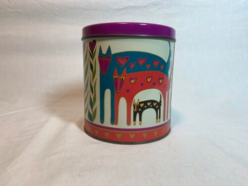 1989 Laurel Burch Kitty Cats Tin Signed 4.5""