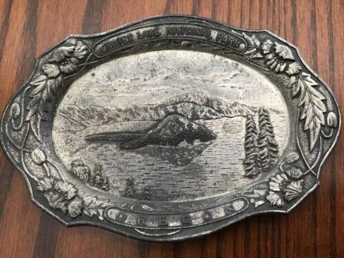 Vintage Crater Lake Oregon Souvenir Metal Tray - 1940's - Occupied Japan