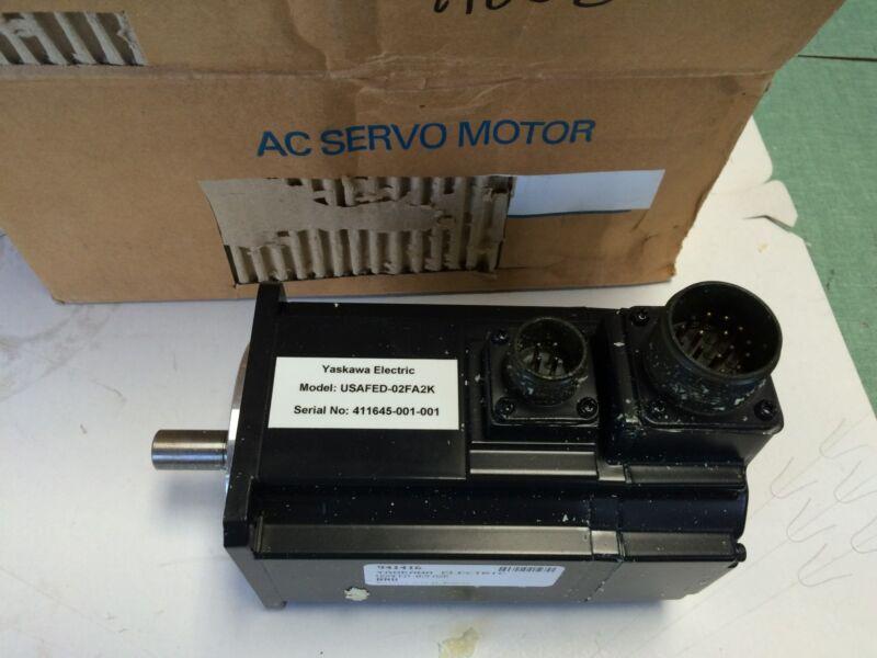New Yaskawa Electric Servo Motor 8.7in-lb 1500rpm Ac Brushless Usafed-02fa2k Bq