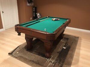 """Harvil 6'3"""" pool table $180"""