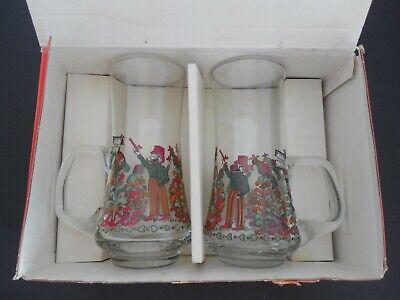 VTG RASTAL GLASS BEER MUGS SET OF 2 MOUTH BLOWN MADE IN GERMANY NIB W/ STICKERS](Glass Mugs In Bulk)