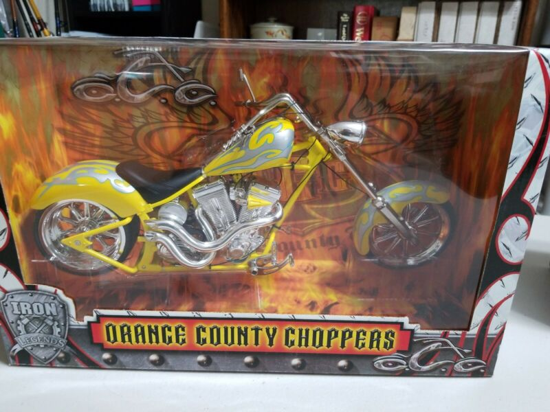 Orange County Choppers 1:6 Replica Motorcycle Die Cast Iron LegendsYellow Silver