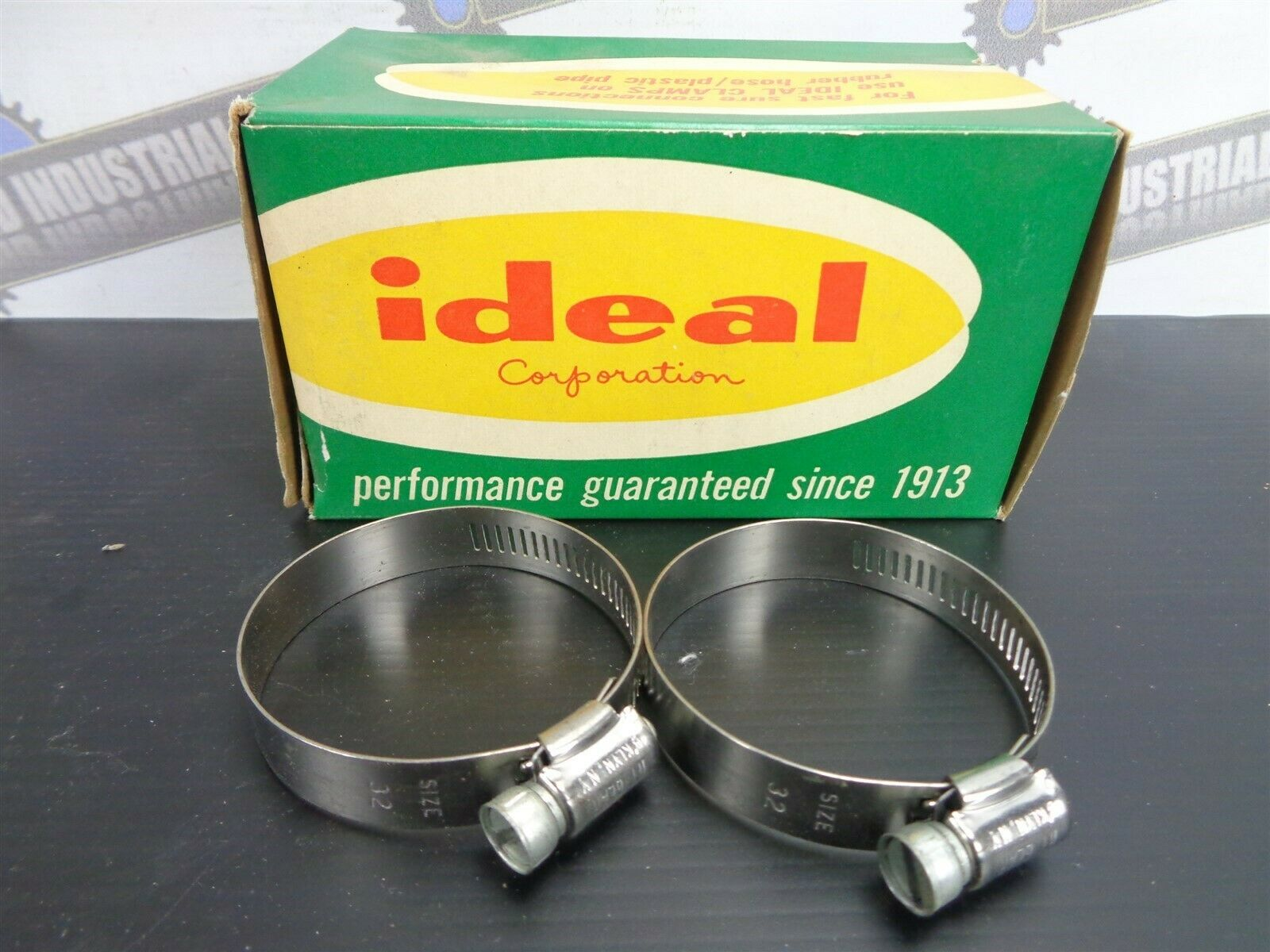 """Vintage HY-GEAR 5232 Stainless Hose Pipe CLAMPS 1-1//2/"""" to 2/"""" 2 pcs NEW #32"""