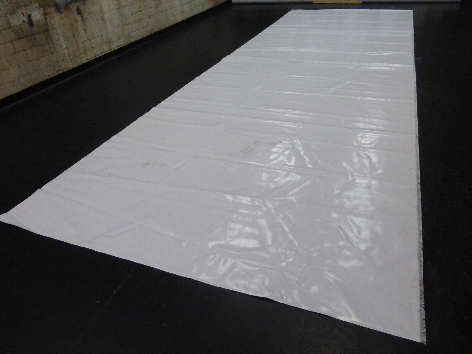 3,9€/m² PVC Folie Abdeckplane LKW Plane 7,25m x 2,40m ca. 1400g/qm weiß B-Ware
