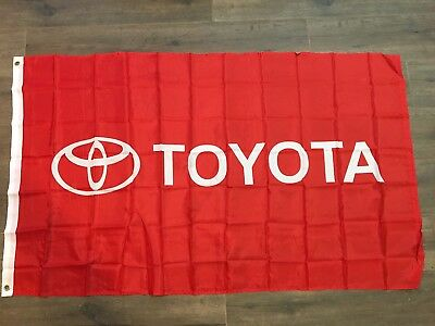 Toyota Red  Flag Car Racing Banner Flags 3x5 Indoor Outdoor Garage US SELLER