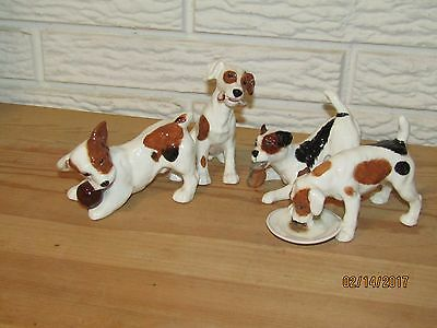 RARE SET OF FOUR(4) ROYAL DOULTON JACK RUSSELL TERRIER DOG FIGURINES