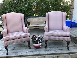 Two high back chairs
