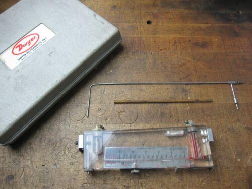 Dwyer Instruments Inc. portable horizontal or vertical manometer kit Bull D-2