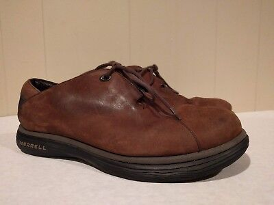 Merrell Topo Smooth Dark Brown Leather Shoes Mens Size US 8 Performance Footwear