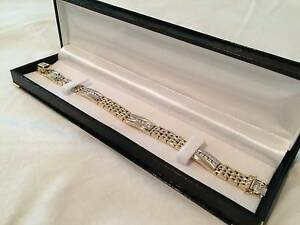 Must See! Certified 14K Gold Diamond Bracelet - 54.4grams + 2.2ct Winston Hills Parramatta Area Preview