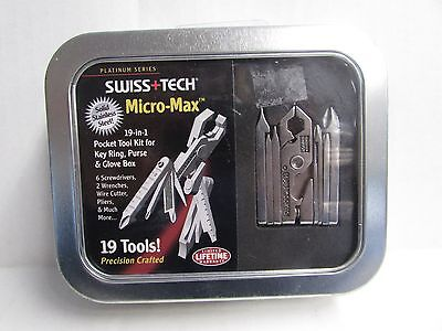 SWISS+TECH Stainless Steel MICRO-MAX Xi 19 In 1 Multi-Tool Plier Wrench! ST53500