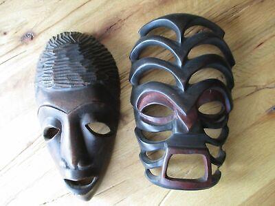 Wood Mask Africa 2 Piece Kata to Hang