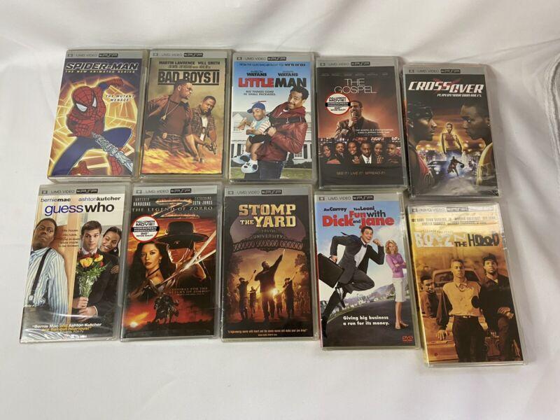 Lot of 10 BRAND NEW SEALED PSP UMD Movies