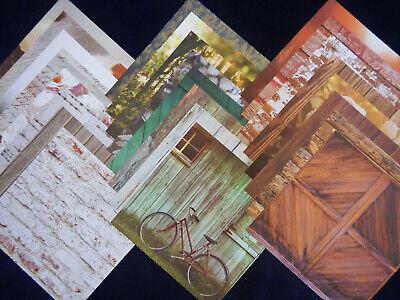 12X12 Scrapbook Paper Cardstock American Crafts Country Rustic Photo Real 24 Lot Cardstock 12x12 Scrapbook Paper