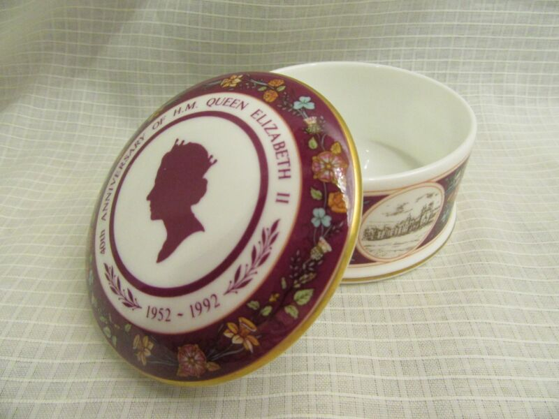 Queen Elizabeth Coalport 40th Anniversary Commemorative Box Limited Edition
