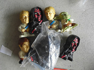 Lot of 7 Burger King Star Wars Episode III Character Figure Toys 3 1/2