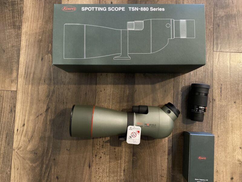 NEW 2020 Kowa  Prominar TSN 883 Angled 88mm Spotting Scope WITH 25-60x Eyepiece