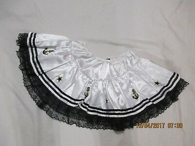 BLACK LABEL halloween costume adult NAVY NAUTICAL full white skirt size large