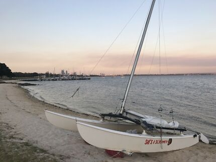 Hobie 16 with dolly and trailer