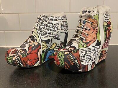 Jeffrey Campbell + Black Milk Rare Collaboration Designer Ankle Wedge Boot