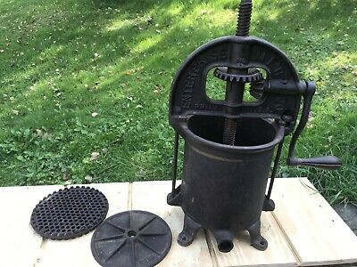 Antique Enterprise Mfg. Co. Sausage Stufferfruit Press Phila. Pa