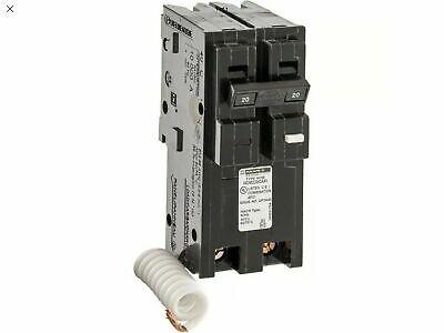 Square D Homeline 20 Amp 2-pole Combination Arc Fault Circuit Breaker New