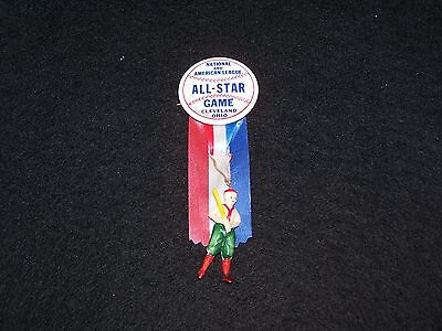 """Vintage 1-3/4"""" 1954 Celluloid All-Star Baseball Pinback ( Clevland,Ohio )"""