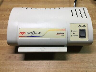 Gbc Docuseal 40 Homeoffice 4 Card Laminator Machine Used