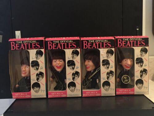 BEATLES 1964 REMCO ORIGINAL DOLLS - SET OF 4 WITH EXTREMELY RARE ORIGINAL BOXES