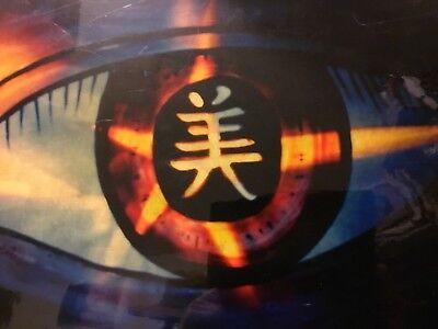 Rare Urban Surrealism Asian Abstract Oriental Evil Eye Art Pop Painting Tattoo