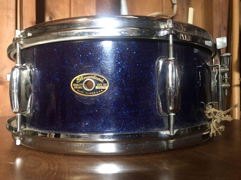 Slingerland Dark Blue Sparkle Vintage Snare Drum