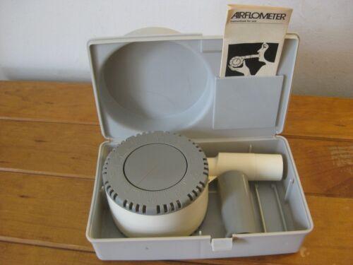 Vintage Airflow Meter (Medical) 1975 - With Instruction Manual & Storage Case
