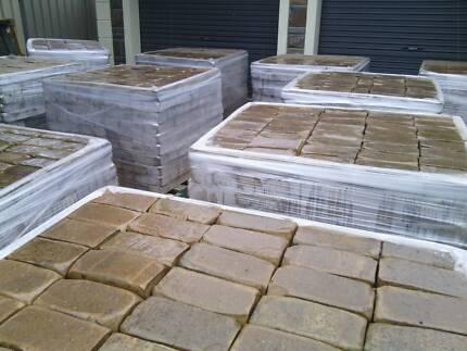 Lot#0104 Tumbled clay brick pavers