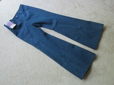 Sale Juniors Vtg 70's Raw Denim Blue Jeans Bell Bottom Maverick Boys Cut USA 29