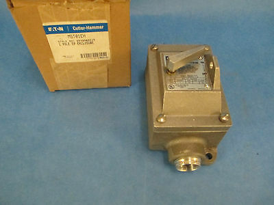 Cutler-hammer Toggle Switch Mst01eh 1p Stainless Steel New Surplus