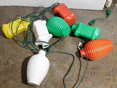 VTG 7 Party Coach Lantern Lamp Camping RV Patio Tiki Blow Mold Light String